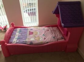 Bed for a girl with a mattress
