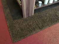 ***BROWN SOFT PILE THICK RUG, GOOD CONDITION***