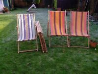 6 VINTAGE DECK CHAIRS OPEN TO OFFERS