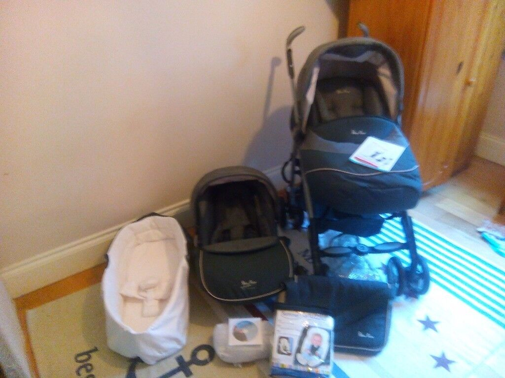 Silver cross pram 3D travel system,baby wrap carrier and Summer head and shoulder support