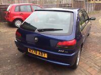 Peugeot 306 HDI 185k blue