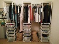 IKEA Algot - free standing wardrobe / storage - drawers, clothes rail