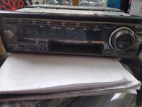 Car radio cassette player & set speakers