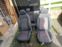 Corsa D 2006-2013 Front Sport Seats SXI Black and Red