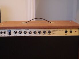"Mike Cooper Vintage Guitar Amplifier 1980s - 2 channel 60W with 12"" McKenzie speaker"