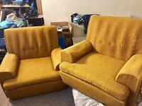 Retro 1970's Arm Chairs