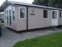 Swift Bordeaux 38x12 ft 2 bedroom static caravan for sale in Forest of Pendle leisure park, Roughlee