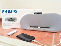 PHILIPS Fidelio Docking Speaker + aux lead *excellent condition