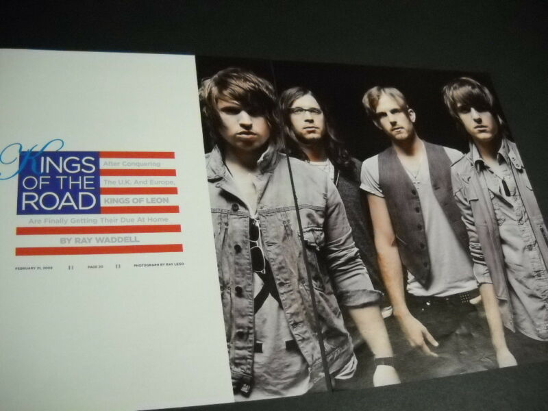 KINGS OF LEON rarely seen large two-piece PROMO POSTER AD from 2009