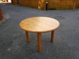 Solid Pine Round Dining Table FREE DELIVERY 790