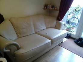 Leather sofa settee