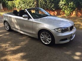 BMW 1 SERIES 120D CONVERTIBLE M SPORT £10,599 ONO ( LOW MILES IMMACULATE CAR)