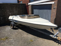 Simms super v 14 foot speedboat with trailer speed boat