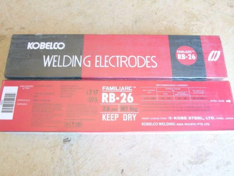 Welding Electrodes Rods KOBELCO FAMILIARC RB-26 2 6