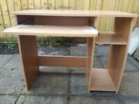 Light beech effect computer desk for sale in Southmead