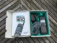Old Analogue Nokia 1610 mobile phone in original box all items originally supplied included