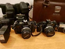 Olympus om1 md & om2 md Classic cameras and zuiko lenses