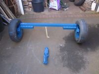 Trailer Axle 3ft x 8 inches wide