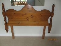 Pine headboard suitable for a single sized bed