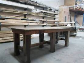 large rustic table