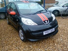 2007 998 cc petrol Peugeot 107 sport 80.000 miles with full history September 18 mot ideal first car