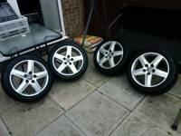 """Audi 17"""" Alloy Wheels with Tyres"""