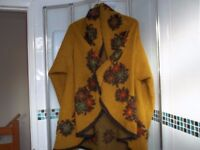 Ladies pure wool cape with sleeves, brand new, Italian made, excellent quality,