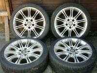 """18"""" alloy wheels and tyres 225/40/18"""