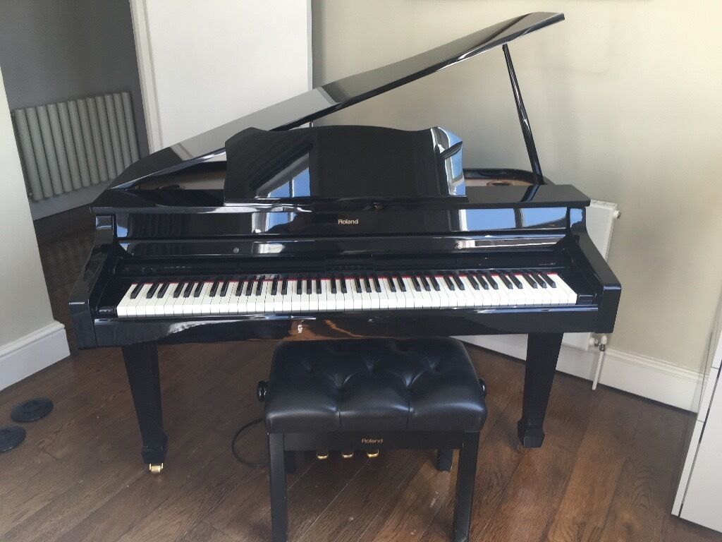 roland rg 3 digital mini grand piano adjustable roland stool in south kensington london