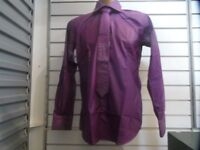 Shirt and tie with diamante trim.Small to 3XL. Turquoise, pink, red, violet.Individual or wholesale