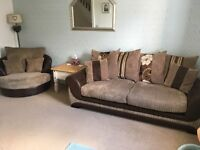 Sofa and matching swivel chair for sale