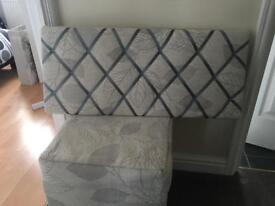 Shabby chic foot stool and cushion notice board