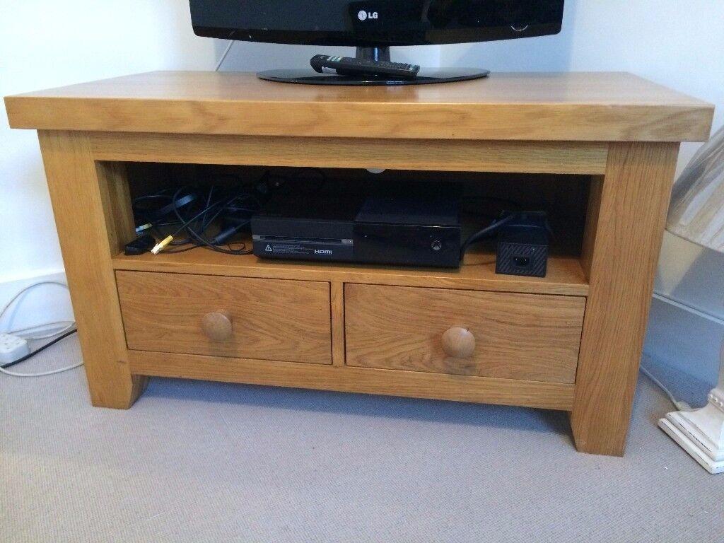 Solid Oak Cotswold TV stand unit