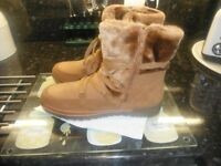 M&S suede boots size 8