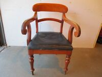 VICTORIAN MAHOGANY CARVER CHAIR FREE DELIVERY