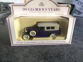 Miniature toy car commemorating the Queen Mother's 90th birthday