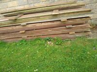 USED TIMBER FENCING GRAVEL BOARDS