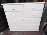 Old Painted Pine Chest of Drawers