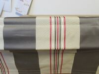 2 Roman Blackout blinds, vertical striped to fit windows 115 cms x 96 cms