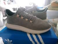 Adidas grey suede trainers