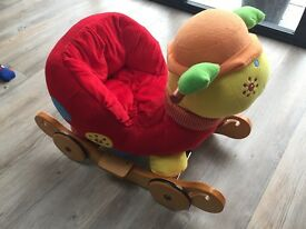 Mamas & Papas snail rocking/wheel padded chair