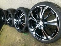 "Brand New 18"" VW Polo Audi A1 alloy wheels +NEW 215/35/18 tyres 5x100 R Line S1 GTi RRP£950 CAN POST"