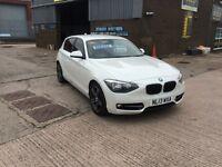2013 BMW 118D SPORT,6 SPEED,STOP START, TURBO DIESEL,ONLY 75000 MLS,IN STUNNING CONDITION THROUGHOUT