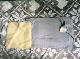Liberty light grey baby sling with a furry insert - very good condition