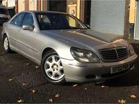 Mercedes-Benz S Class 2002 3.2 S320 CDI Saloon 4 door Diesel AUTOMATIC, HUGE SPEC, LONG MOT, LEATHER