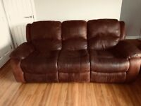 3 and 2 seater recliner sofa. Good condition from a smoke free and pet free home.