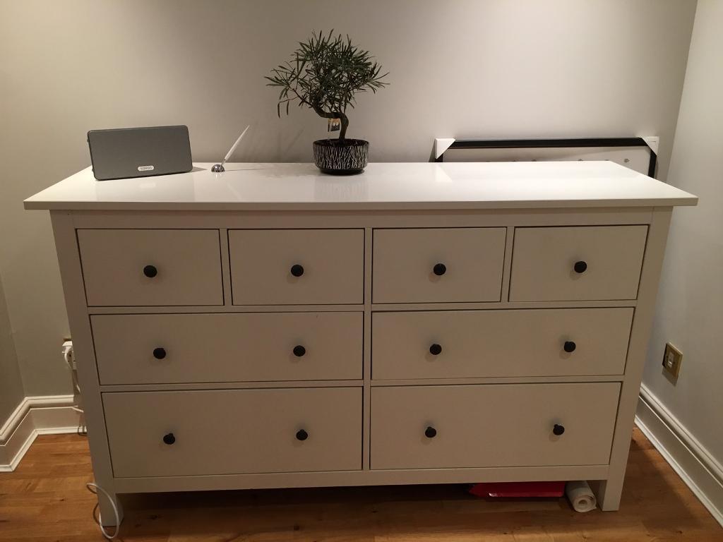 ikea hemnes sideboard, white, 8 drawers   in teddington, london