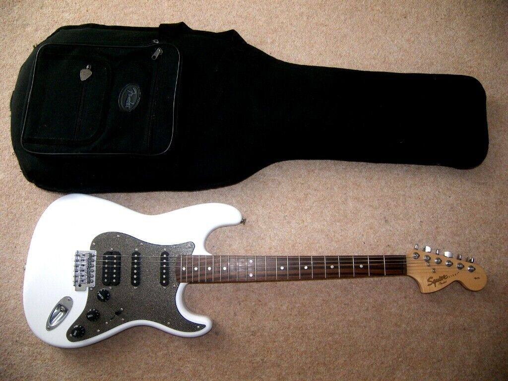 Fender Squier Stratocaster Affinity Fat Strat Electric Guitar + Strap ,  Cable , Stand and Gig Bag  | in Bristol | Gumtree