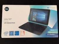 Linx 1020 computer/tablet PC with keyboard dock with wireless mouse! Basically brand new.