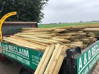6 ft Wooden Field Fence Posts